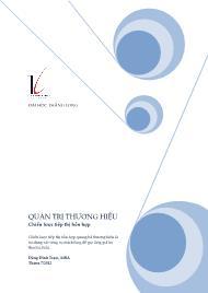 Giáo trình Quản trị thương hiệu - Chiến lược tiếp thị hỗn hợp - Đặng Đình Trạm