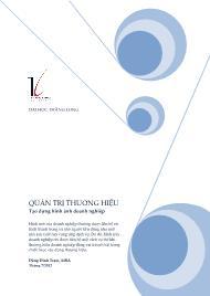 Giáo trình Quản trị thương hiệu - Tạo dựng hình ảnh doanh nghiệp - Đặng Đình Trạm