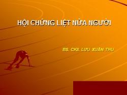 Bài giảng Hội chứng liệt nửa người - Lưu Xuân Thu