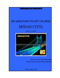 Bài giảng Phân tích kết cấu bằng Midas Civil - Nguyễn Hữu Hưng