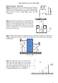 Bài tập Thủy lực và thủy khí
