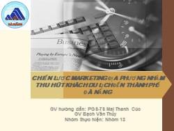 Chiến lược marketing địa phương nhằm thu hút khách du lịch đến thành phố Đà Nẵng