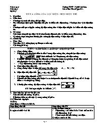 Giáo án Vật lý Lớp 11 - Tiết 4+5: Công của lực điện - Hiệu điện thế - Phan Ngọc Hà