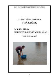 Giáo trình Thả giống - Mã số MĐ 04: Nghề ương giống và nuôi ngao