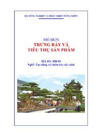 Giáo trình Trưng bày và tiêu thụ sản phẩm - Mã số MĐ 05: Nghề tạo dáng và chăm sóc cây cảnh