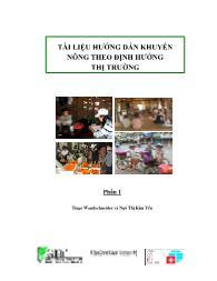 Tài liệu hướng dẫn Khuyến nông theo định hướng thị trường