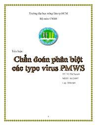 Tiểu luận Chuẩn đoán phân biệt các type virus PMWS