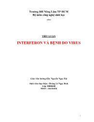 Tiểu luận Interferon và bệnh do virus