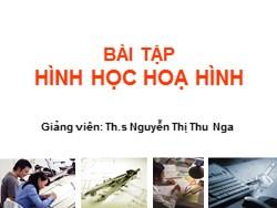 Bài giảng Hình học họa hình - Nguyễn Thị Thu Nga