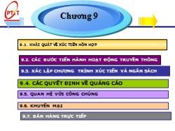 Bài giảng Marketing căn bản - Chương 9: Các quyết định về xúc tiến - Phạm Thị Minh Lan