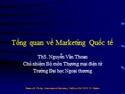 Bài giảng Thương mại điện tử - Tổng quan về marketing quốc tế