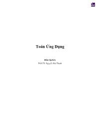Bài giảng Toán ứng dụng - Nguyễn Hải Thanh