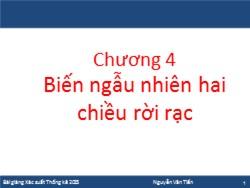 Bài giảng Xác suất thống kê - Chương 4: Biến ngẫu nhiên hai chiều rời rạc