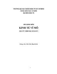 Giáo trình Kinh tế vĩ mô - Trần Mạnh Kiên