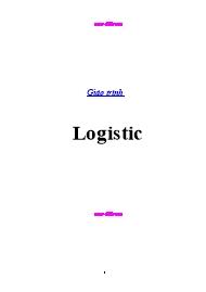Giáo trình Logistic