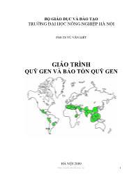 Giáo trình Quỹ gen và bảo tồn quỹ gen
