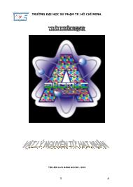 Giáo trình Vật lý nguyên tử hạt nhân