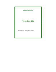 Tài liệu Toán cao cấp - Hoàng Xuân Quảng (Phần 1)