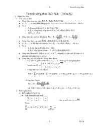 Tóm tắt công thức Xác suất - thống kê